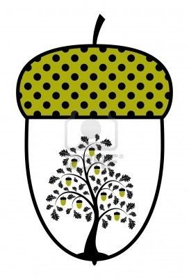 oak tree in acorn Stock Photo