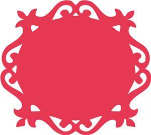View Design: ornate vintage label