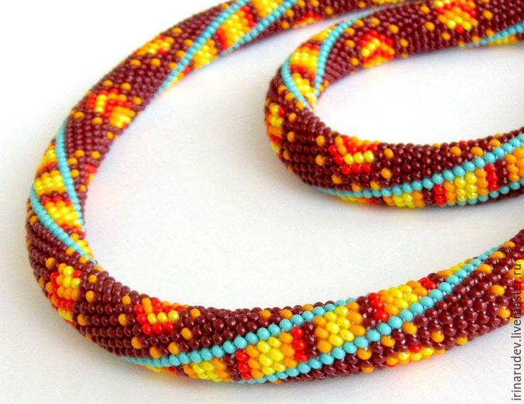 """Купить Набор для вязания бисером. Жгут и браслет """"Африка"""" - жгут из бисера, жгут вязанный из бисера"""