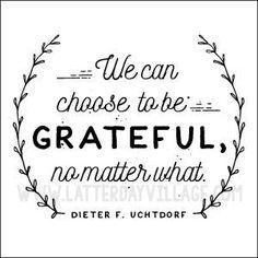 """""""Why is it important to be grateful?"""" LDS YW October lesson helps - http://LatterDayVillage.com"""