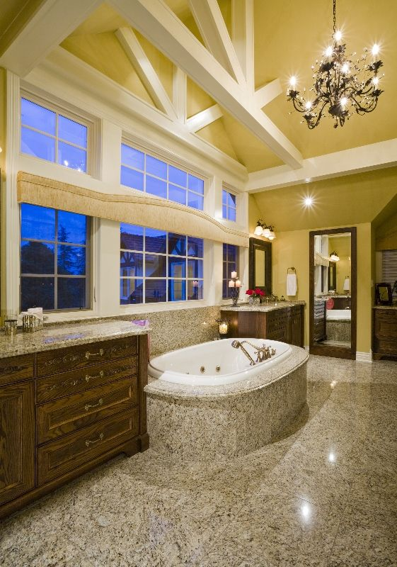 Luxurious bathroom renovation in South Surrey. Relax and unwind in the soaker tub and waste the day away.