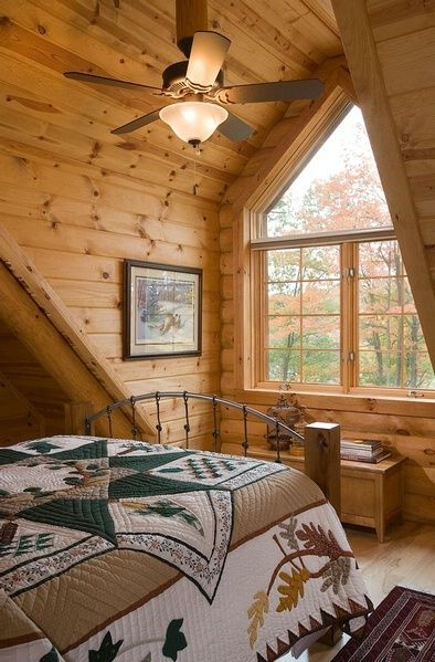 Best 25+ Log home bedroom ideas on Pinterest | Cabin floor plans ...