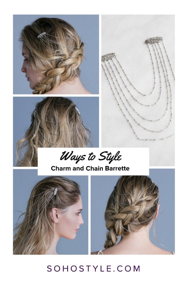 Ways To Style Charm And Chain Barrette Hair Accessory Luxury Hair Extensions Luxury Hair Festival Hair