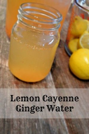Lemon Cayenne Ginger Water #SoFab