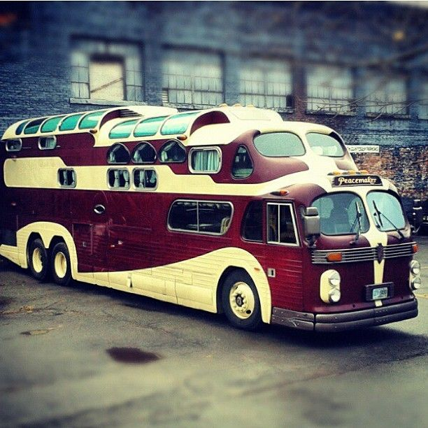 Vintage 1955 Combo Gmc Amp 1949 Aerotech Bus Converted