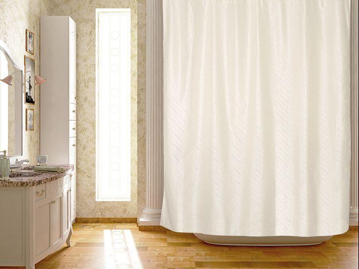 WESS La perla - занавеска для ванной комнаты из ткани 180x200 см. Цена 1200р. Посмотреть на сайте: http://likemyhome.ru/catalog/shtorki-karnizy-kolca/00005737 #likemyhome #showercurtain #bathroomdecor #interiorstyle #wess #laperla
