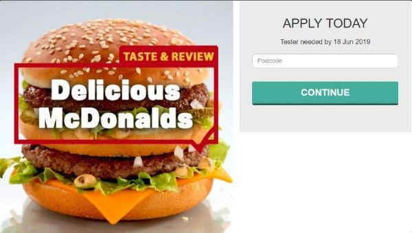 Become A Mcdonalds Tester Now Mcdonalds Food Mcdonald Menu