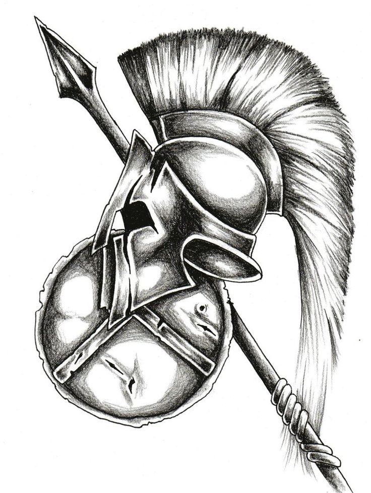 Spartan Warrior tattoo drawn up for me!