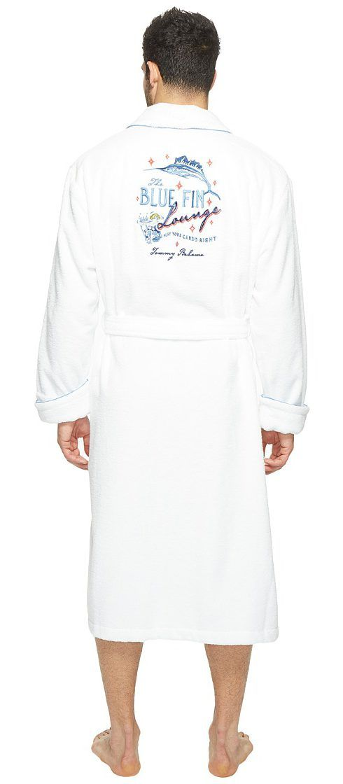 Tommy Bahama Woven Loop Terry 50 Robe (White) Men's Robe - Tommy Bahama, Woven Loop Terry 50 Robe, 2141308-100, Apparel Top Robe, Robe, Top, Apparel, Clothes Clothing, Gift, - Fashion Ideas To Inspire
