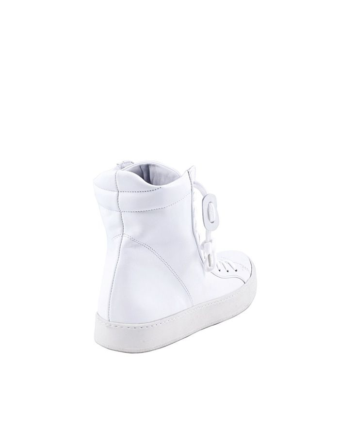 THE LAST CONSPIRACY SNEAKERS MAN Taro white sneakers Washed leather with side lacing vegetable dye rubber sole zip front closure
