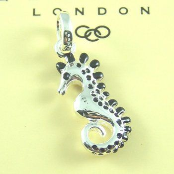 Links of London Seahorse charm in black color #jewelryforsale