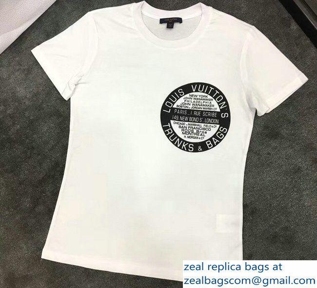 e311255dad7d Louis Vuitton Trunks and Bags Print T-Shirt White 2018