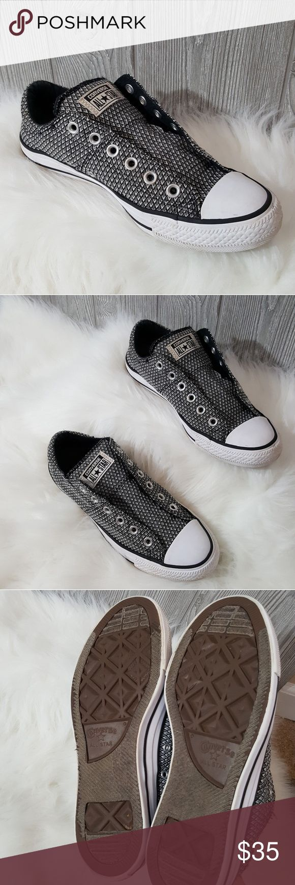 9 converse slip on Good used condition Converse slip on shoes size women's 9. Shoes Sneakers