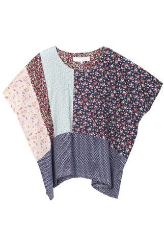 MIXED FLORAL TOP /// different color combo