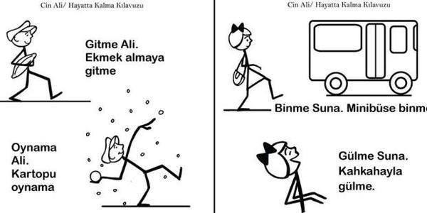 """Türkiye'nin Yeni Okuma Fişleri: """"Ali Kartopu Oynama"""", """"Suna Minibüse Binme"""".!"""