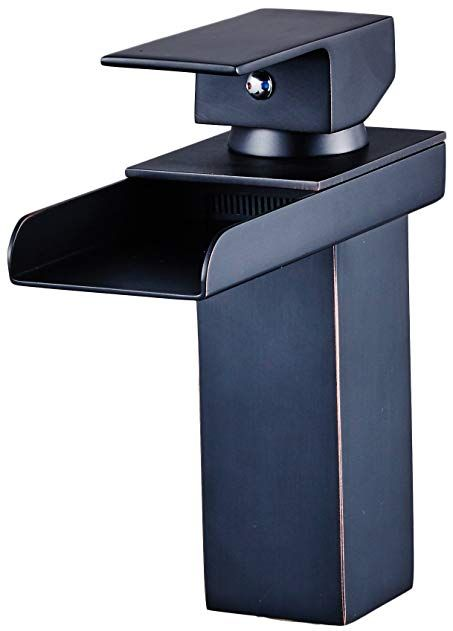 YAJO Modern Single Handle Widespread Waterfall Spout Bathroom Vessel