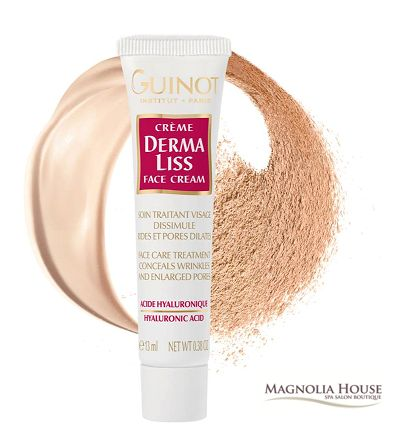 Our new favourite product!  Guinot Derma Liss the ultimate perfector, a hyaluronic acid treatment cream that visibly reduces the appearance of wrinkles and fine lines while minimizing large pores.