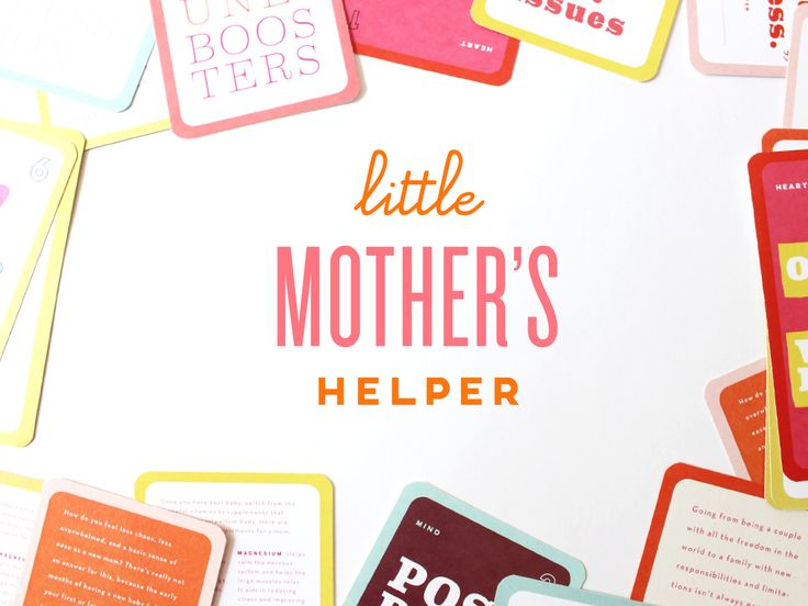 Little Mother's Helper is a cool deck of cards and app guiding modern mothers in the days, weeks + months following childbirth.
