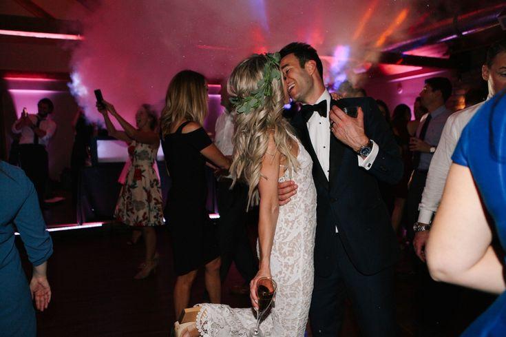 Chicago wedding dance floor, bridal jumpsuit. Wedding photography www.leahmoyers.com
