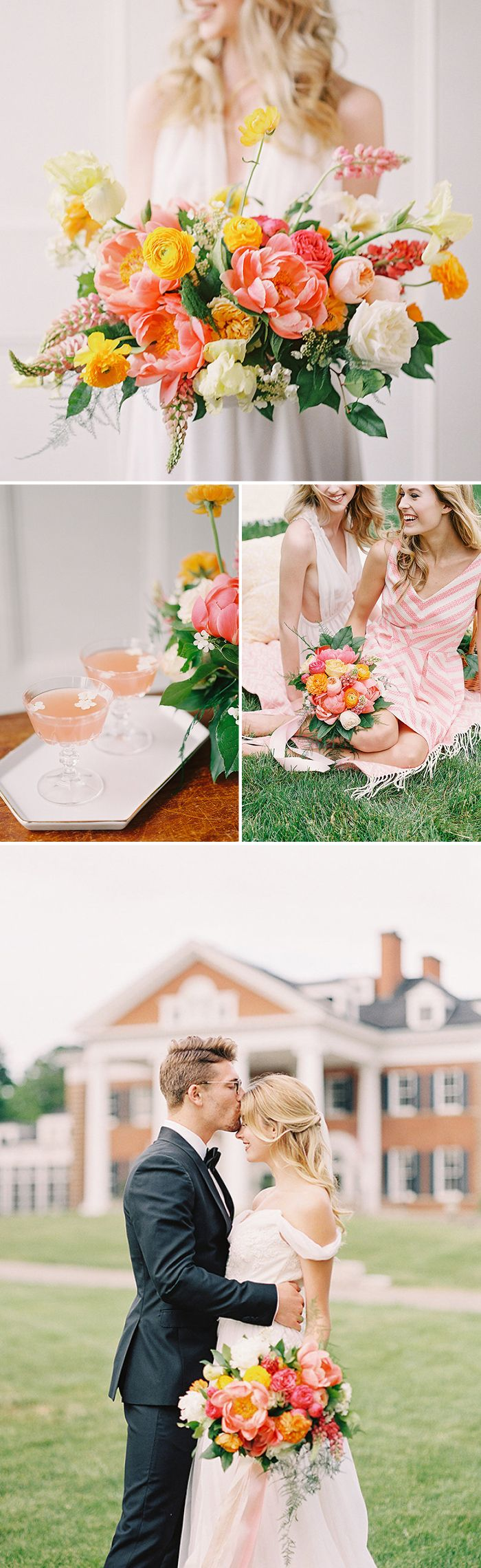 Posh and Preppy Pink Wedding Shoot