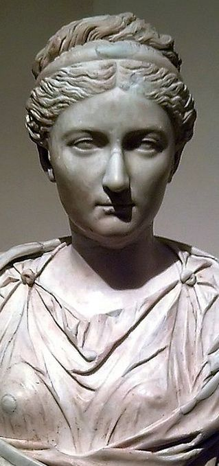 Vibia Sabina (83–136/137) was a Roman Empress, wife and second cousin, once removed, to Roman Emperor Hadrian. She married Hadrian in 100.