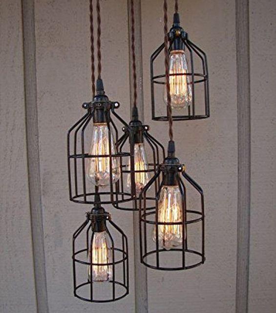 2016 Vintage Lampenkap Kroonluchter Industriële Draad Lampenkap Iron Guard Voor String Licht Schaduw Lamp Houder Vogel Netto Lamphouder