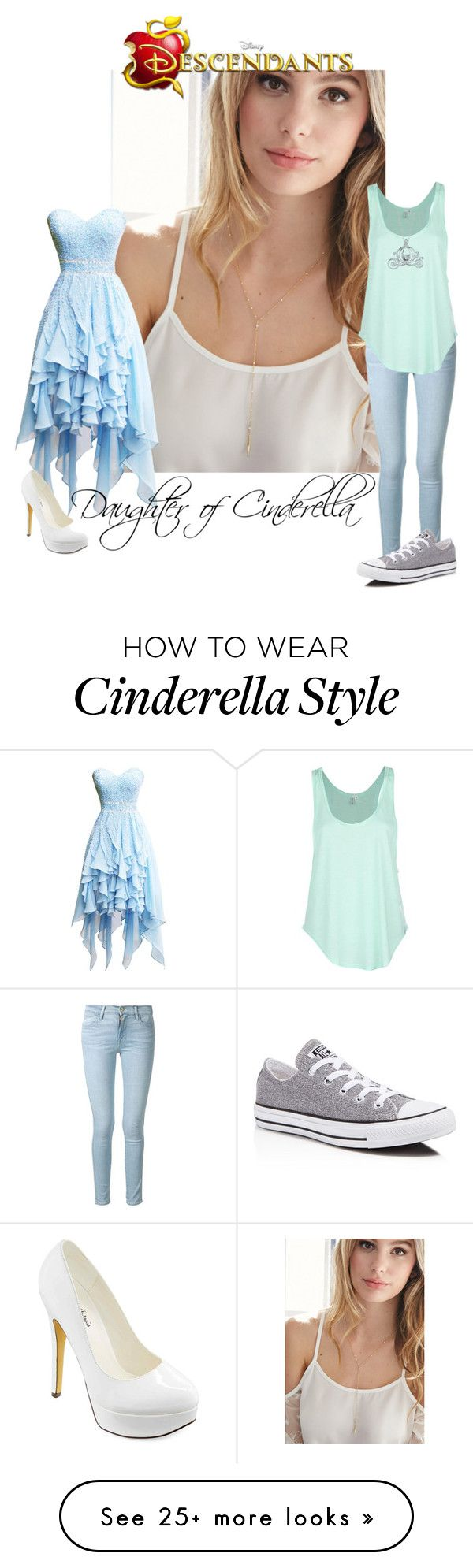 """Daughter of Cinderella"" by laceyleanne18 on Polyvore featuring Forever 21, Frame Denim, Rip Curl, Disney, Converse and Michael Antonio"