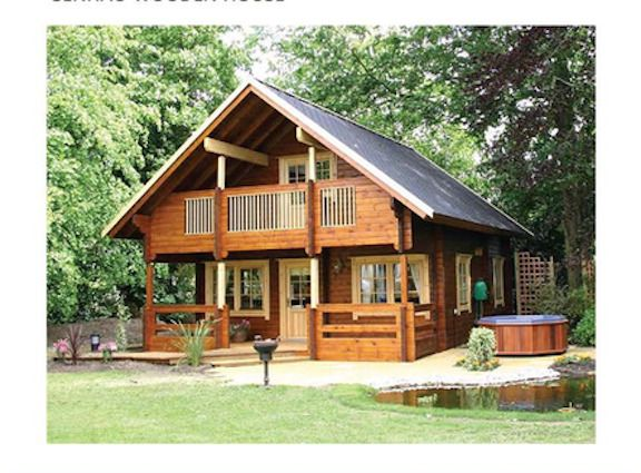 Cabin Kit 1 442 Ft 2 Story 3 Bed Wooden Guest House Home Custom