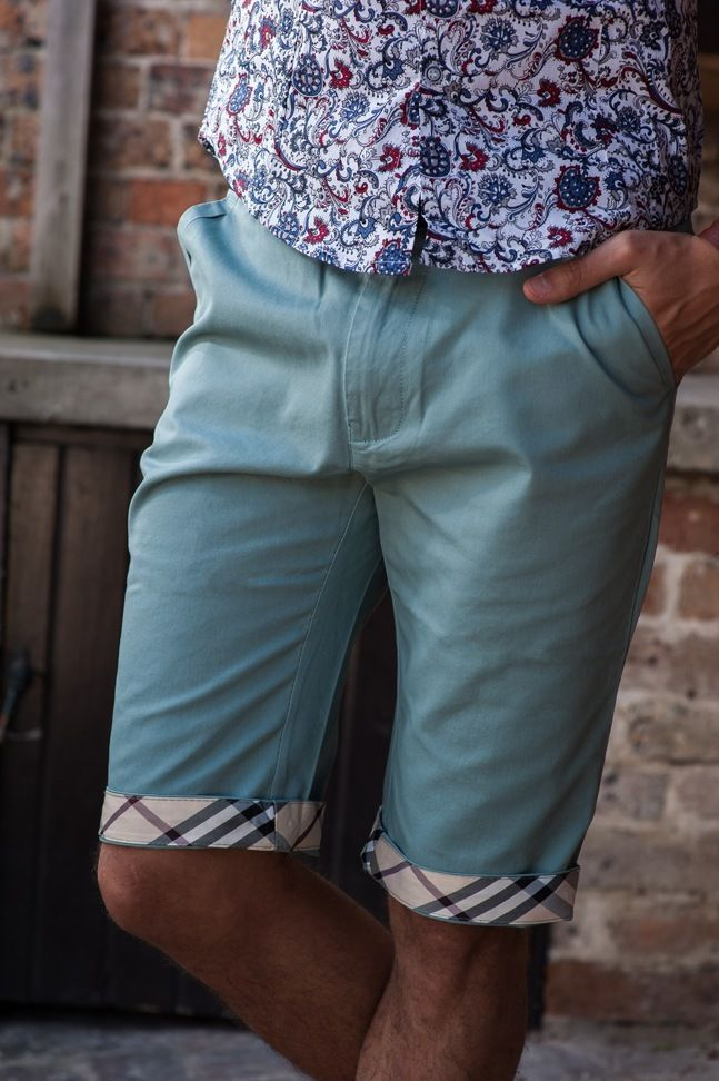 Men's Slim Fit Chino Shorts – Sky Blue . $49.95  http://sieteclothingco.com.au/shop/mens-shorts/