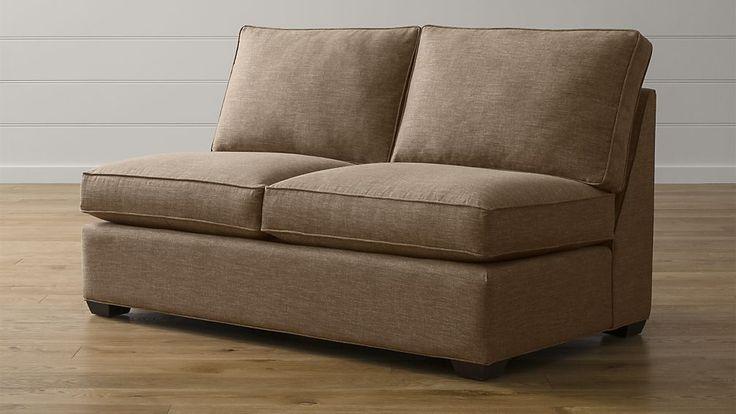 Davis Armless Full Sleeper Sofa with Air Mattress | Crate and Barrel