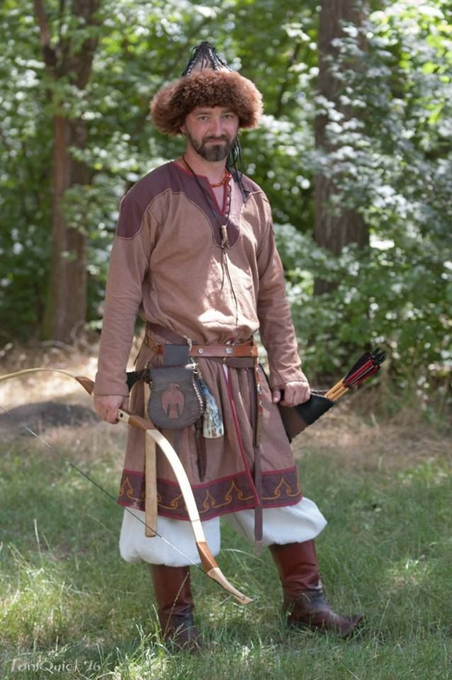 Traditional Hungarian archers in the 10th century