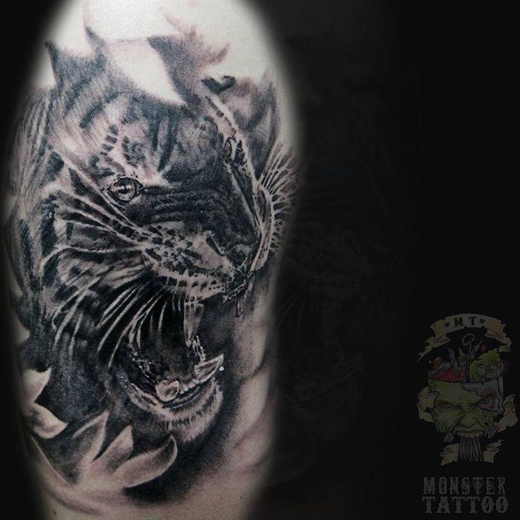 #monster #monsterlavirginia #tattoo #tatuaje #blacktattoo #blackandgray #blackandgraytattoo #negroygris #negroygristatuaje #tigre #tigretattoo #tigertattoo #tiger #tatuadorescolombianos #colombiaink #colombiatattoo