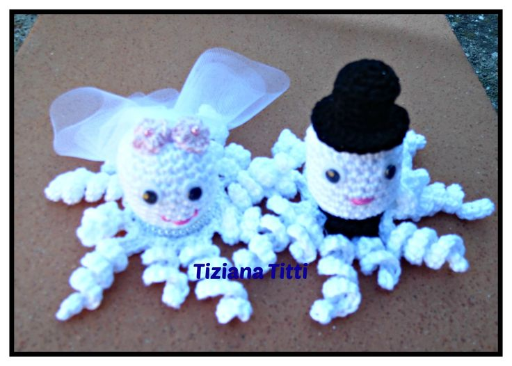 polipetti sposetti  octopus groom and bride amigurumi crochet