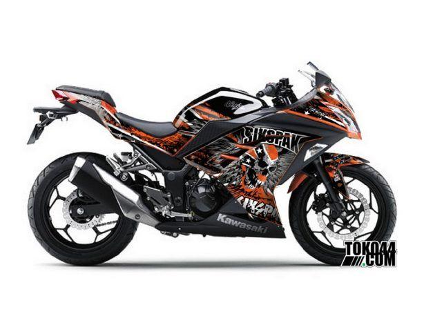 Decal Sticker Modifikasi Kawasaki Ninja 250 Fi ABS SE (Special Edition) Orange - Sikspak Hells Angel Orange