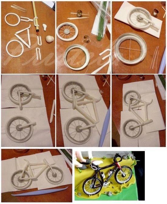 Tutorial bicicletta in pasta di zucchero
