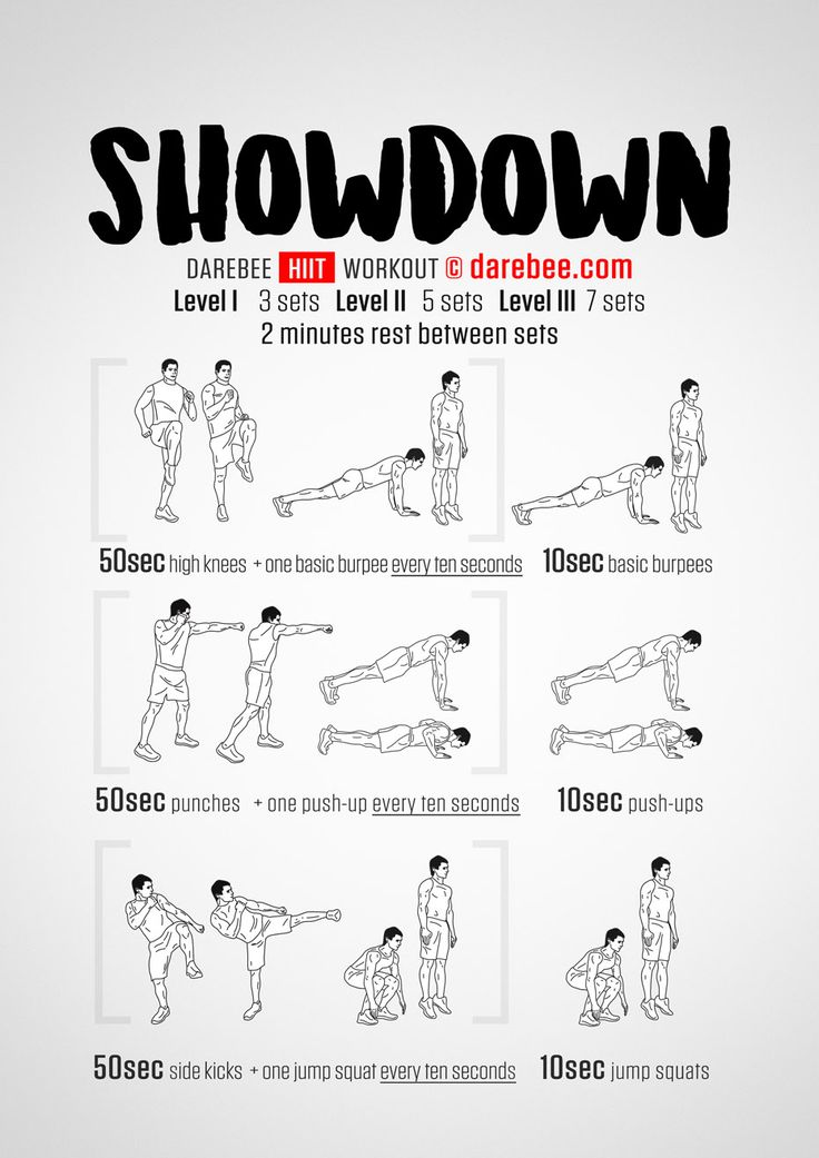 Showdown workout.