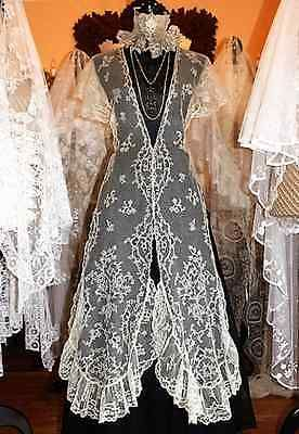 Magnificent-Antique-Brussels-Lace-Shawl-Wedding-Veil