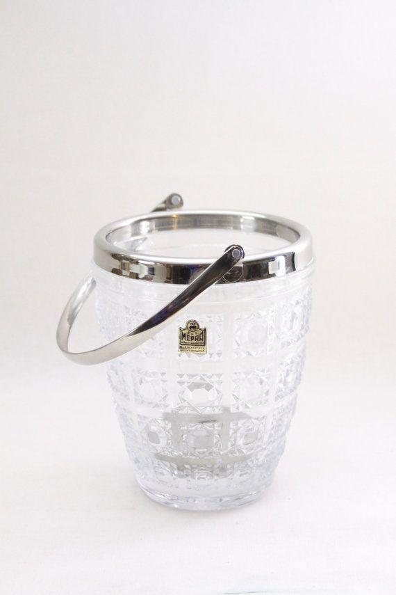 Italian Glass Ice bucket by Mepra