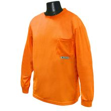 Radians Hi Vis Orange Long Sleeve T-shirt Non-Rated ST21-N | Hi Vis Safety Direct will beat any other price , we are #1 in Hi Visibility Items .