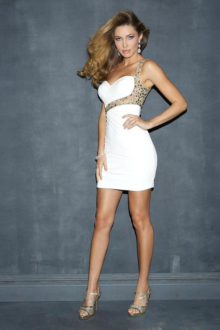 Buy 2014 Sexy Homecoming Dresses Sheath Short Mini One Shoulder With Ruffle And Beads On line