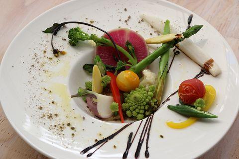 スチーム野菜のベジバーニャカウダー しぜんバル パプリカ食堂ヴィーガン