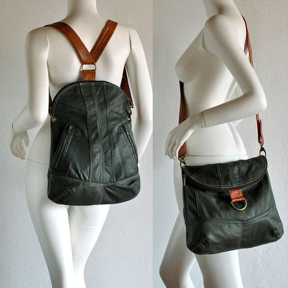 Making leather bags from leather garments…