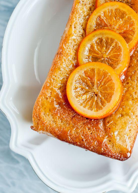 liqueur soaked orange almond pound cake