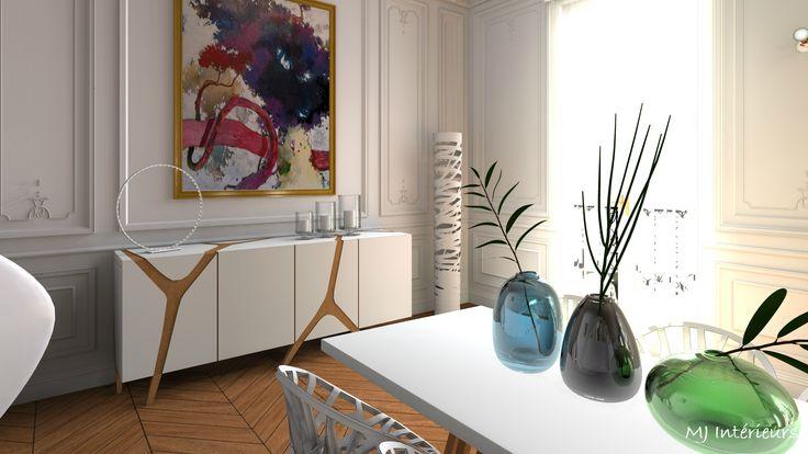 d tail salle manger design dans appartement haussmannien. Black Bedroom Furniture Sets. Home Design Ideas
