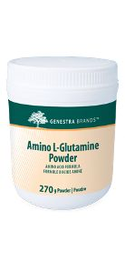 Amino L-Glutamine Powder by Genestra. Digestive and immune support • Helps support immune system health and digestive system health after periods of physical stress • Helps restore plasma glutamine levels depleted after periods of physical stress Muscle support • Helps to assist in muscle cell repair after exercise