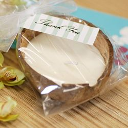 Soy Coconut Candles @Beau-coup Favors
