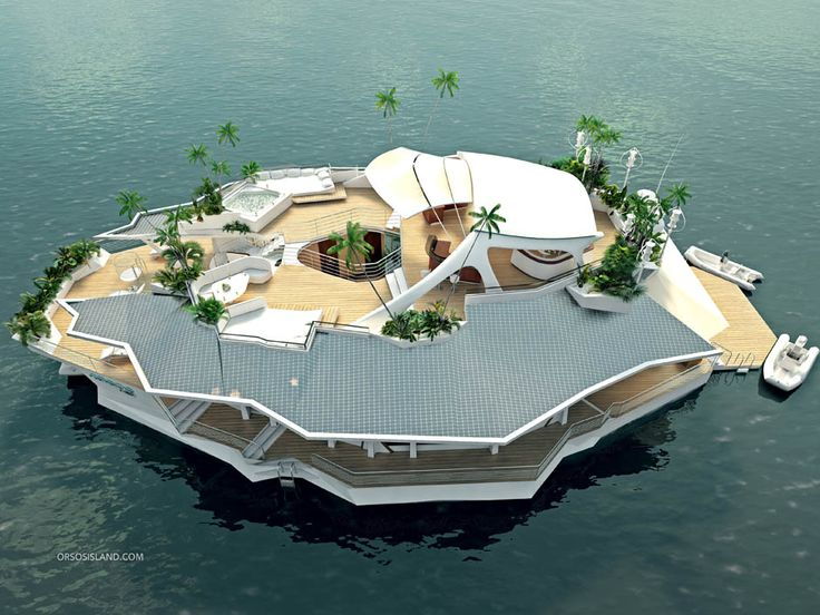 "Man-made ""island"" can be towed anywhere in the world... for $6,500,000"