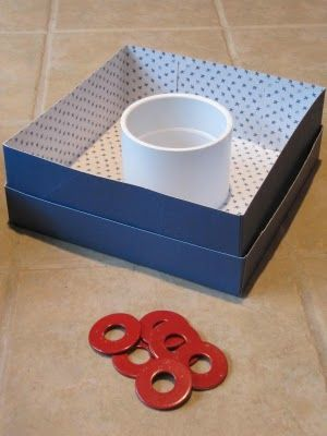 fun diy game for the kids. Finally a washers game tutorial that looks easy and doable with easy to obtain items.