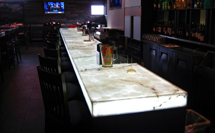 Led Panel Light Backlit Onyx Bar Bar Pinterest