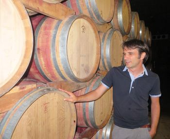 Hannes Rottensteiner in our barrique cellar